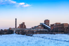 Ruins of abandoned factory Royalty Free Stock Photography