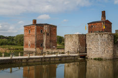 Ruins of the abandoned Havre castle. Belgium Royalty Free Stock Photo