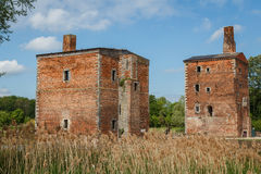 Ruins of the abandoned Havre castle. Belgium Royalty Free Stock Photography