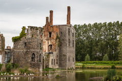 Ruins of the abandoned Havre castle. Belgium Stock Photo