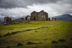 Ruins. Abandoned house in Iceland near Höfn Royalty Free Stock Photos