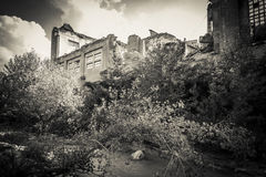 Ruins of abandoned industry Royalty Free Stock Images