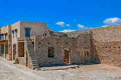 Ruins in the abandoned leper colony Spinalonga, Crete Royalty Free Stock Photography
