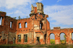 Ruins of abandoned old castle Royalty Free Stock Photography