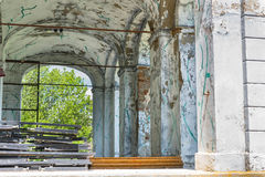 The ruins of an abandoned old house Royalty Free Stock Photography