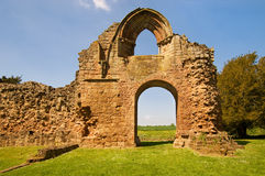 Ruins of the Abbey. Ruins of Lilleshall Abbey in Shropshire, England stock photos