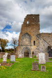 Ruins of the abbey in Ireland. Cementery and Ruins of the abbey in Ireland Stock Photo