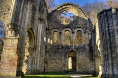 Ruins of the abbey of Orval in Belgium Stock Photos