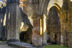 Ruins of the abbey of Orval in Belgium Royalty Free Stock Image