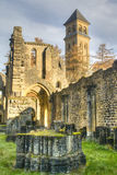 Ruins of the abbey of Orval in Belgium. The abbey in Orval, Belgium is famous for its trappist beer, botanical garden and ruins of the former monastery Royalty Free Stock Image