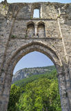 Ruins of abbey Saint Jean d'Aulps ,France stock images