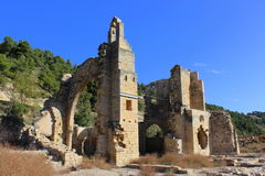 Ruins of the abbey of Santa Maria de Vallsanta , Lleida Royalty Free Stock Photography