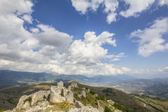 Ruins of abruzzo fortress Stock Images