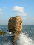 Ruins of Acco, Israel. This is the remains of ancient wall in Acco, Israel Royalty Free Stock Image
