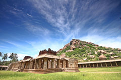 Ruins of Achhutraya Temple in Hampi, India Royalty Free Stock Images