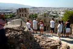 Ruins in Acropolis of Athens, Greece Stock Photos