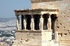Ruins in Acropolis of Athens, Greece Stock Photography