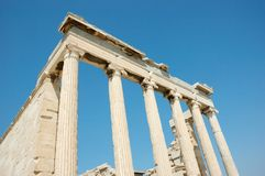 Ruins of Acropolis,Greece,Athens Royalty Free Stock Photos