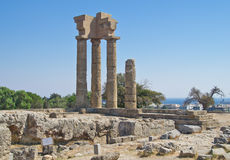 Ruins of acropolis in Rhodes Royalty Free Stock Images