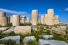The ruins of Acropolis royalty free stock photos