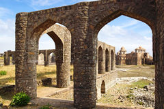 Ruins of Afghan architecture. India Royalty Free Stock Photo