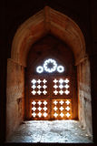 Ruins of Afghan architecture in Mandu, India stock photo