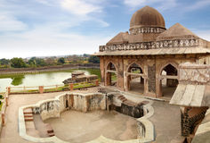 Ruins of Afghan architecture in Mandu, India. On the photo: Ruins of Afghan architecture in Mandu, India Royalty Free Stock Photos