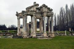 Afrodisias, Antic City, Turkey. Ruins of Afrodisias, Antic City, Turkey in green rural fields Royalty Free Stock Photography
