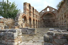 Ruins against blue sky. In sunny day Royalty Free Stock Photos