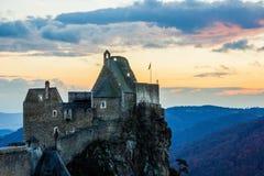Ruins of Aggstein castle. Austria stock photo