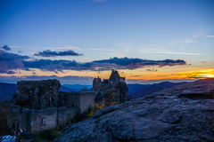 Ruins of Aggstein castle. Austria royalty free stock images