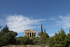 Aghora, Athens, Greece. Ruins of Aghora,  Athens Greece Royalty Free Stock Image