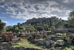 Aghora, Athens, Greece. Ruins of Aghora,  Athens Greece Stock Photos