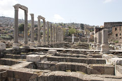 Ruins of agora, archaeological site in Izmir, Turkey Royalty Free Stock Photos