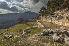 Ruins of agora in Arykanda Stock Photography