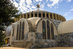 Ruins of Aksum (Axum), Ethiopia. Dome of the Church of Our Lady Mary of Zion, Aksum, Ethiopia Royalty Free Stock Image