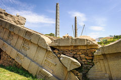 Ruins of Aksum (Axum), Ethiopia Royalty Free Stock Photo