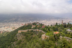 Ruins of the Alanya castle, Turkey Stock Image