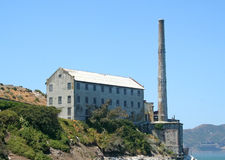 Ruins Of Alcatraz Smoke Stack And Power House Royalty Free Stock Photo