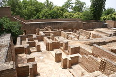 Ruins of Alcazaba fortress in Alhambra Palace in Granada, Spain Royalty Free Stock Photography