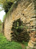 Ruins along Town of Boone Greenway Trail. The stone ruins along the Greenway Trail are the remains of a hydroelectric generation station that produced the first Royalty Free Stock Image