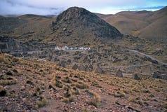 Ruins on Altiplano in Bolivia,Bolivia. Ruins on Altiplano at Eduardo Avaroa National Reserve,Bolivia Royalty Free Stock Image