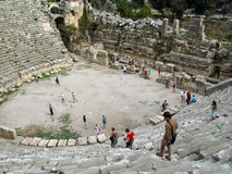 The ruins of the amphitheater in the ancient city of the World Royalty Free Stock Photography
