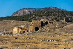 Ruins of amphitheater in Denizli. Ruins of the amphitheater from the Greco-Roman period in Denizli Stock Images