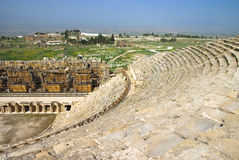 Ruins of amphitheater in Hierapolis,Turkey. Royalty Free Stock Images