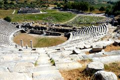 Ruins of the amphitheater of Milet, Minor Asia, turkey Stock Image