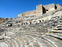 Ruins of amphitheater in Milet, Minor Asia, Turkey, Greek colony Stock Photos