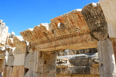The ruins in amphitheater at Myra Royalty Free Stock Photos