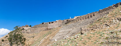 Ruins of Amphitheater in Pergamon Stock Photos