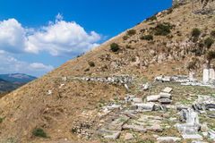 Ruins of Amphitheater in Pergamon Stock Images